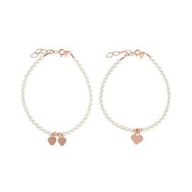 Perlas Corazón Oro Rosa