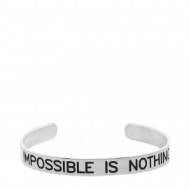 "Brazalete con  lema ""Impossible is nothing """