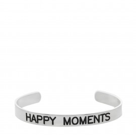 "Brazalete con  lema ""Happy moments """
