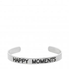 "Brazalete con  lema ""Happy moments """
