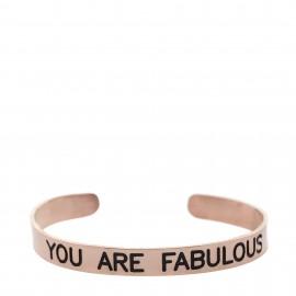 """Brazalete con lema """"You are fabulous"""""""