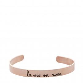 """Brazalete con lema """"La vie en rose"""""""