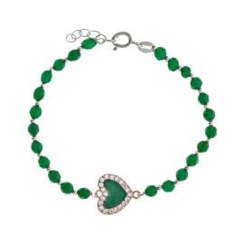 Corazón Esmaltado Swarovski Verde