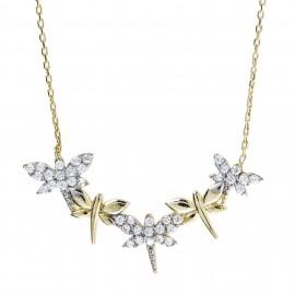 Mariposas Zirconium Oro