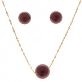 Perla Granate Oro