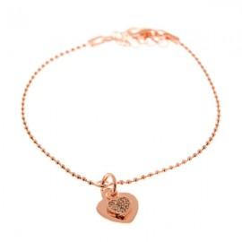 Corazón Zirconium Oro Rosa
