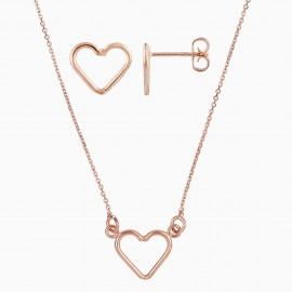 Corazón Oro Rosa