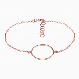Simple Circle Oro Rosa