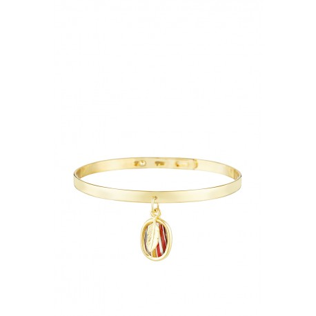 Brazalete Indian Ambar Oro