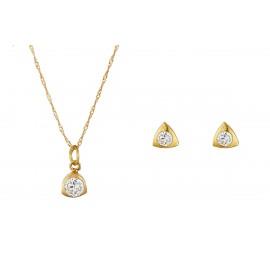 Triangle Zirconium Oro