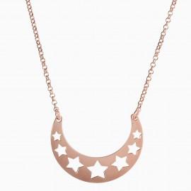 Luna Estrellas Oro Rosa