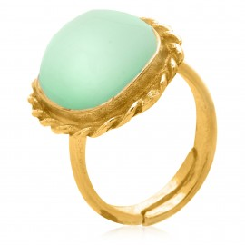 Square Nudo Jade Gold