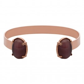 Brazalete Duo Oval Amatista Rose Gold