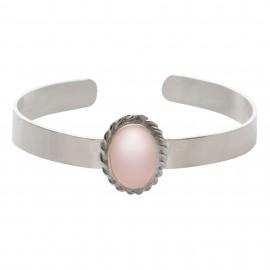 Brazalete Luxury Oval Rosa de Francia Silver
