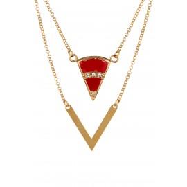 Triangle Zirconium Rubí Gold