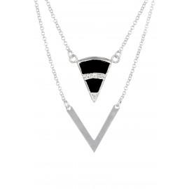 Triangle Zirconium Onix Silver
