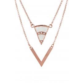 Triangle Zirconium Rose Gold