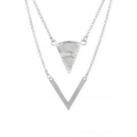 Triangle Zirconium Silver