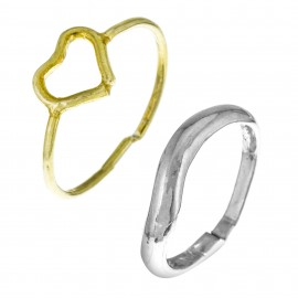 Duo Corazón oro & Silver