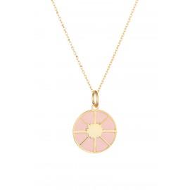 Circle Esmaltado Rosa Gold