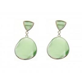 Lux Kiut Jade Triangle Silver