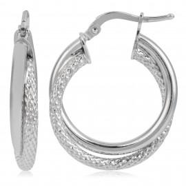 Aro Doble Diamantado Silver