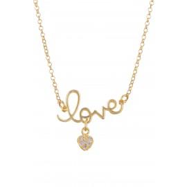 Love Corazón Zirconium Gold