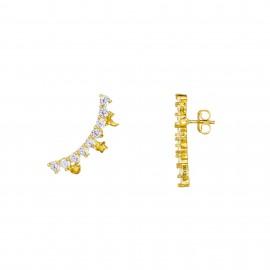 Ear cuff Zirconium oro