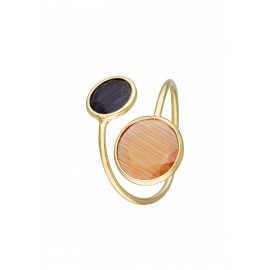 Doble Gran Dolce Bicolor Naranja & Onix Gold