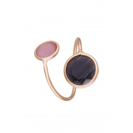 Doble Gran Dolce Bicolor Rosa & Onix Rose Gold