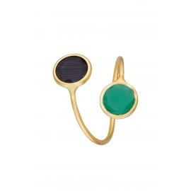 Doble Dolce Bicolor Esmeralda & Onix Gold