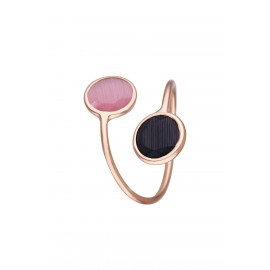 Doble Dolce Bicolor Rosa & Onix Rose Gold