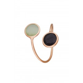 Doble Dolce Bicolor Jade & Onix Rose Gold