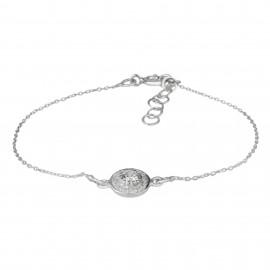 Circle Zirconium Silver