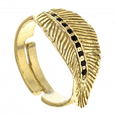 Gran Hoja Ónix Zirconium Oro