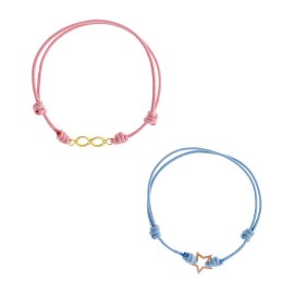 Estrella Algodón Azul / infinito algodón rosa