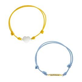 Corazón Algodón Amarillo / Amor algodón azul