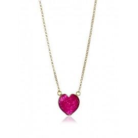 Corazón Rubí Oro Rosa