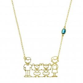 Familia Colors Esmeralda Oro