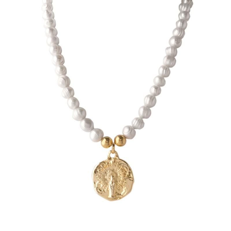 278f35178092 Perlas virgen del Pilar Martelé Oro. Modelo pg2096cp. Condición Nuevo. Plata  de Ley ...