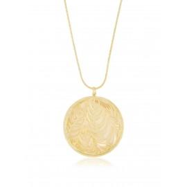 Medallón Naturaleza Nácar Oro