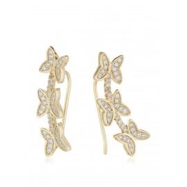 Ear Curf Mariposa Diamantada Oro