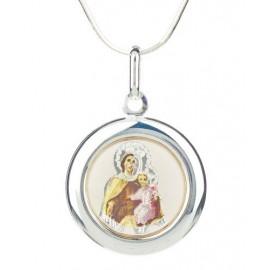 Medalla Virgen Carmen Esmalte