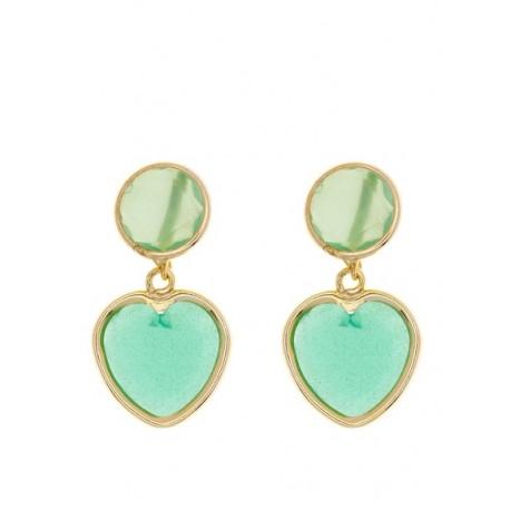 Duo Luna Llena Corazón Esmeralda